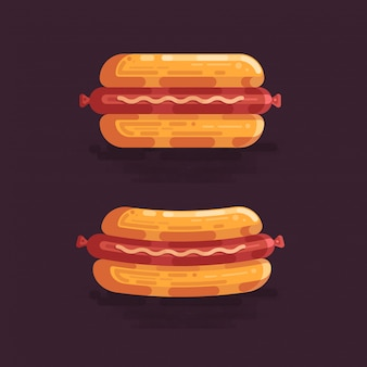 Hot dog-vektor-illustration
