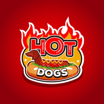 Hot dogs logo design