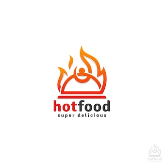 Hot food logo vorlage