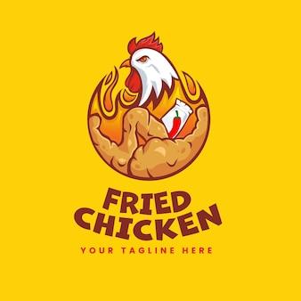 Hot fried chicken logo