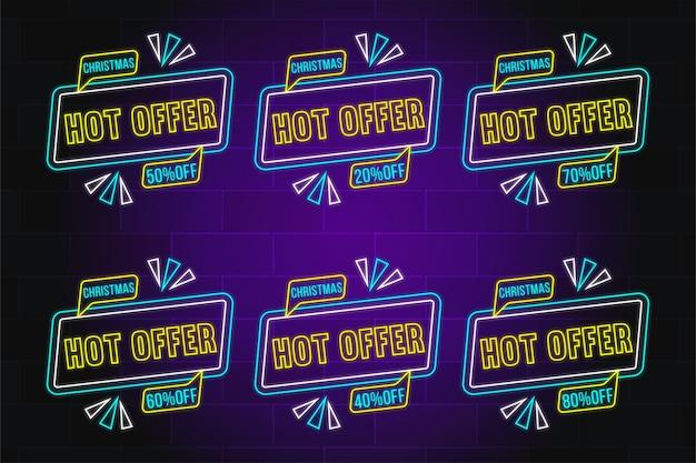Hot offer button - weihnachtsangebot button