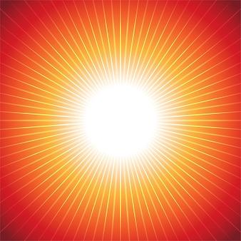 Hot ray radiant abstract