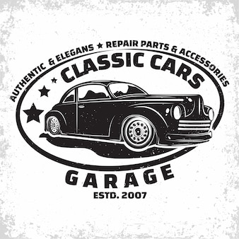 Hot rod garage illustration