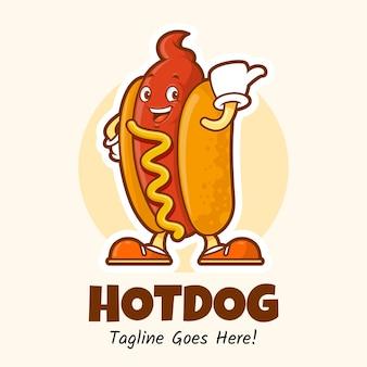 Hotdog maskottchen charakter