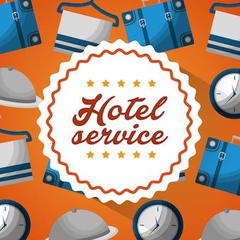 Hotel gebäude service aufkleber