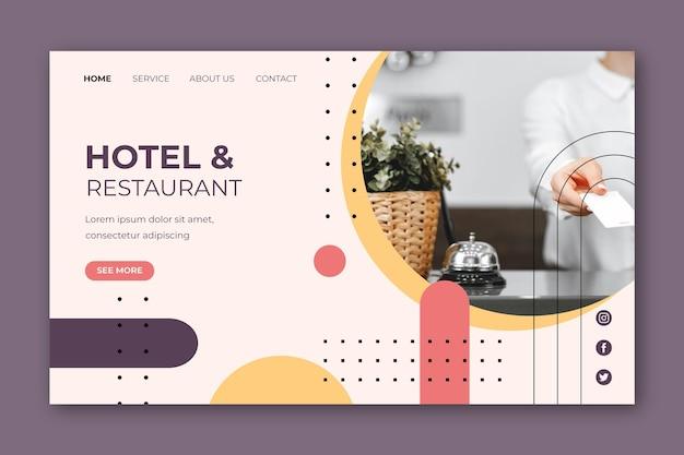 Hotel landing page vorlage mit foto