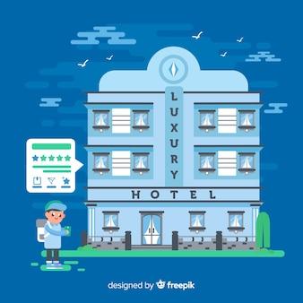 Hotelbewertung konzept hintergrund