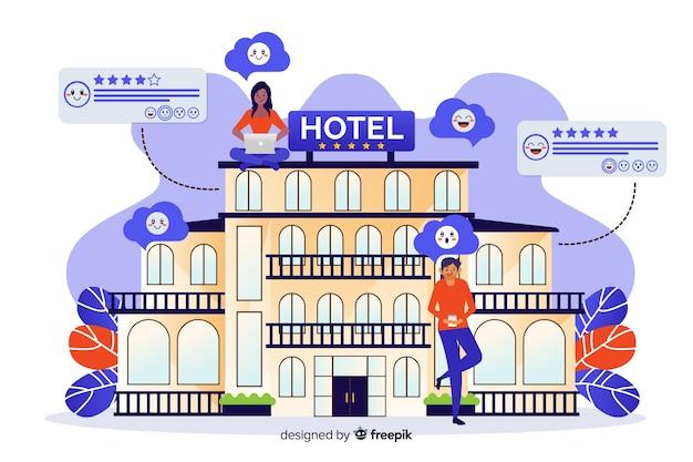 Hotelbewertung konzept
