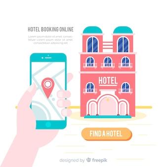 Hotelbuchungshintergrundschablone
