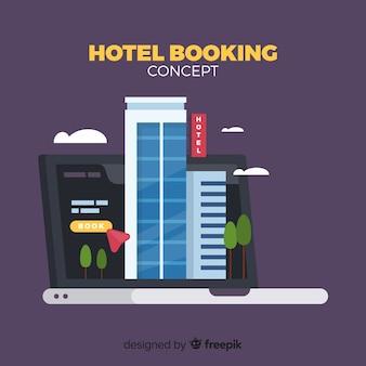 Hotelbuchungskonzepthintergrund