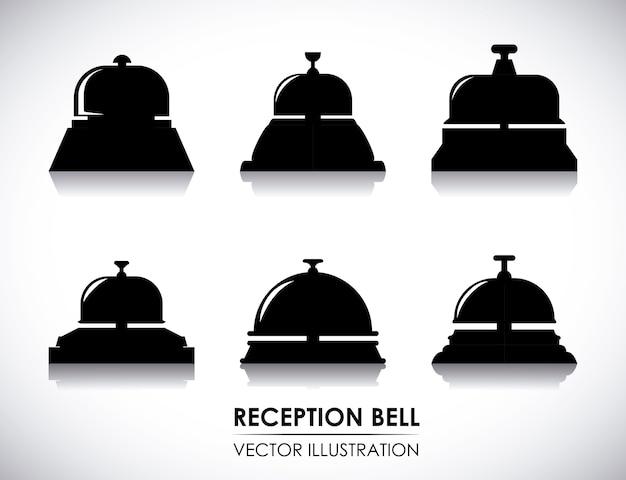 Hoteldesign über weißer hintergrundvektorillustration