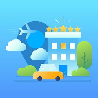 Hoteldienstleistungen vektor