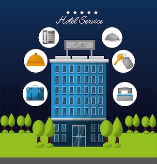 Hotelgebäude-service