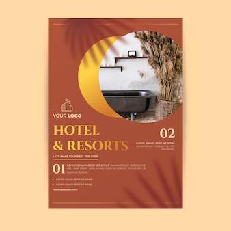 Hotelinformationsflyer mit foto