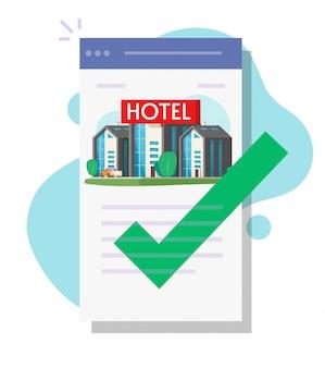 Hotelreservierung mobile bildschirm app