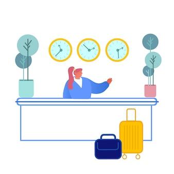 Hotelrezeptionist illustration