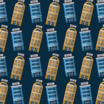 Hotels, die fassadenanpassungshintergrund errichten