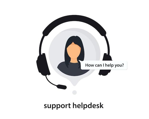 Hotline-symbol mit sprechblase. support-symbol für apps und websites. kundensupport, kundendienstmitarbeiter oder account manager. support-service mit kopfhörern, informationsunterstützung, 24/7-hotline