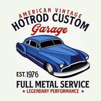 Hotrod custom t shirt grafik