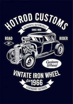 Hotrod design illustration