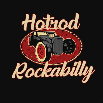 Hotrod illustration design