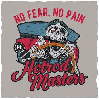 Hotrod masters label design