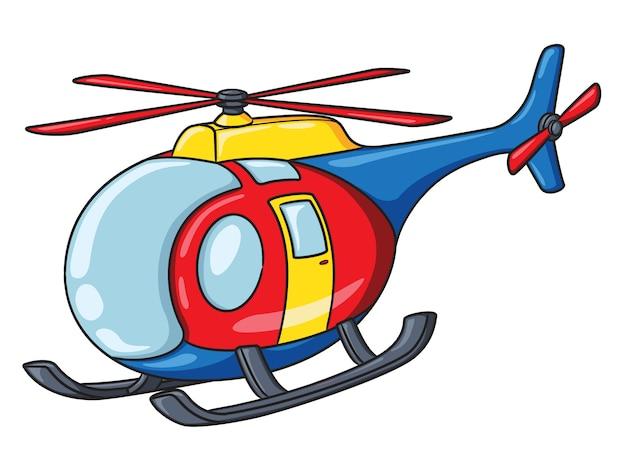 Hubschrauber-cartoon