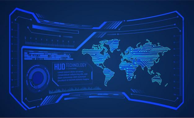 Hud blue world cyber circuit zukunft technologie konzept hintergrund