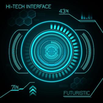 Hud futuristischer hintergrund