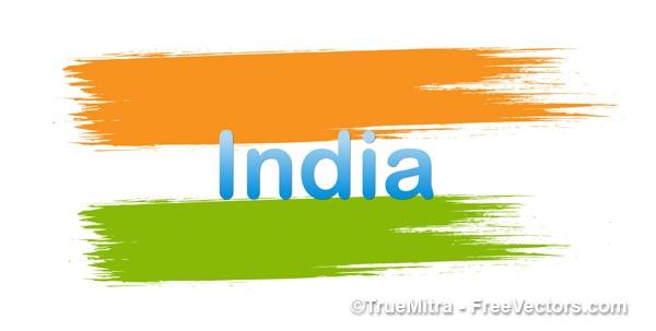Hüben indischen flagge vektor