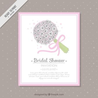 Hübsche brautstrauß blumen-bouquet karte