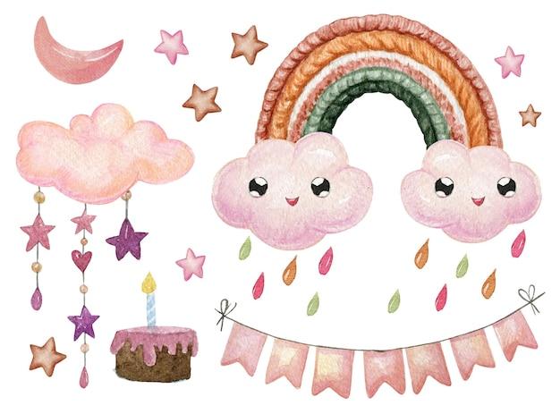 Hübsche chuva de amor dekorationselementsammlung