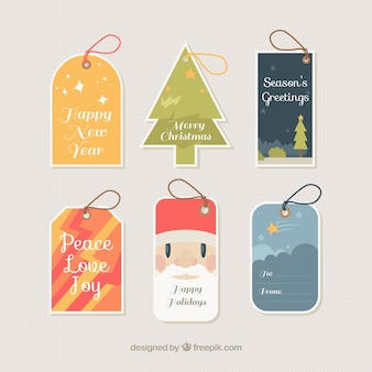 Hübsche etiketten reihe von weihnachten