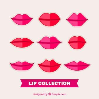 Hübsche lippen in flachen stil
