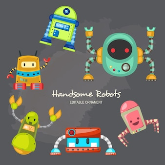 Hübsche roboter allen