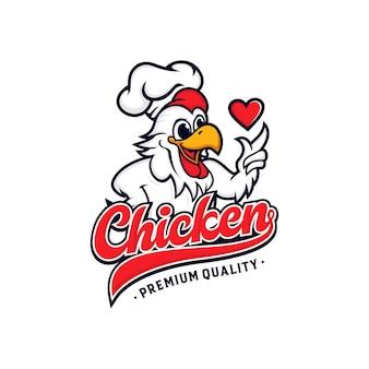Hühnchen-maskottchen-logo-design