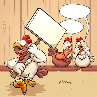 Hühner protestieren