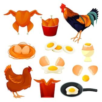 Hühnerfutter und geflügelprodukte