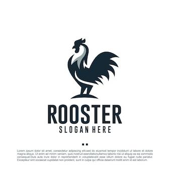 Hühnerhahn, logo-design-vorlage