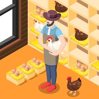 Hühnerstall isometrisch