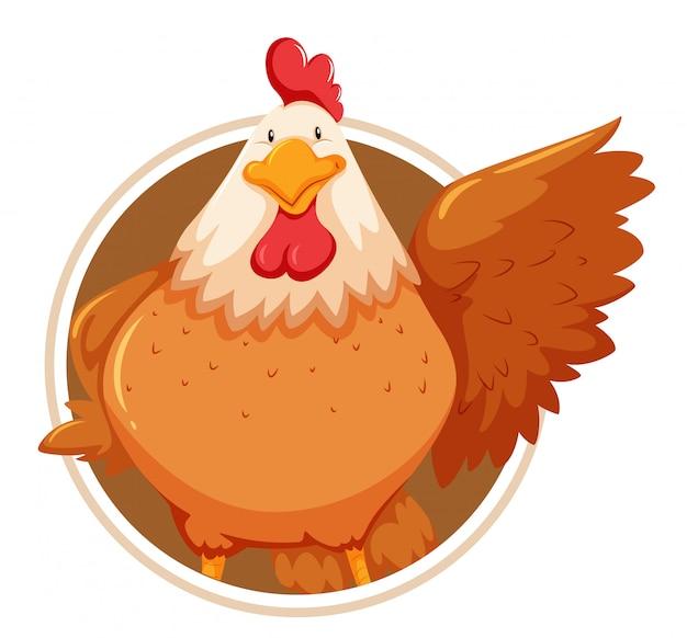 Huhn auf kreisvorlage