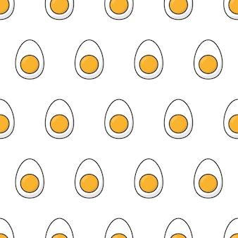 Huhn gekochte eier nahtlose muster. eier symbol thema illustration