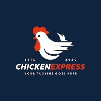 Huhn, hahn logo design vorlage