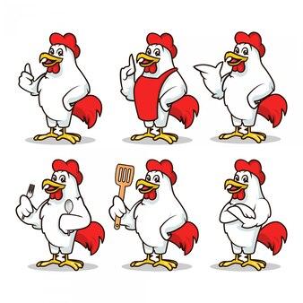 Huhn maskottchen design illustration