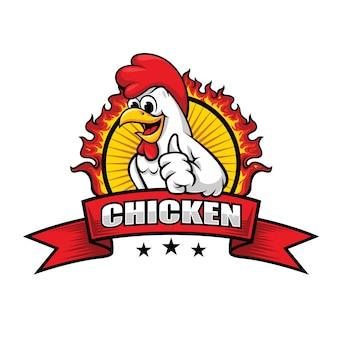 Huhn-maskottchen für restaurantlogo