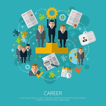 Human resources karriere-konzept drucken