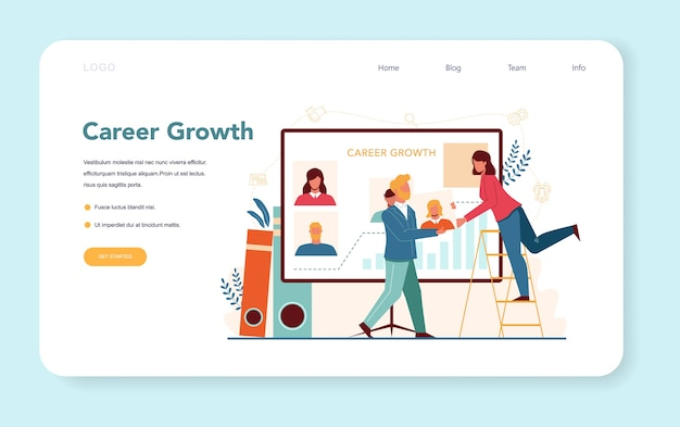 Human resources manager web-banner oder landing page