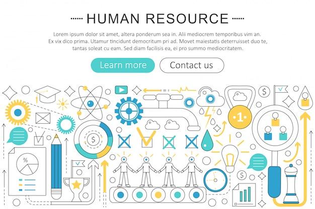 Human ressource-konzept