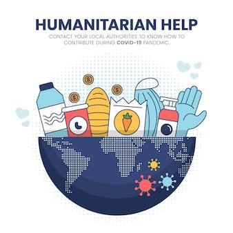 Humanitäre hilfe beim coronavirus