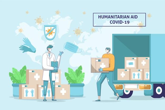 Humanitäre hilfe covid19
